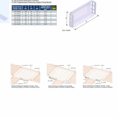 16_H100 K Series Cable Trays Pregalvanised Reducing Angles Fixing Bends
