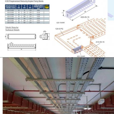 18_H50 K Series Cable Trays Pregalvanised Reducing Angles Fixing Bends