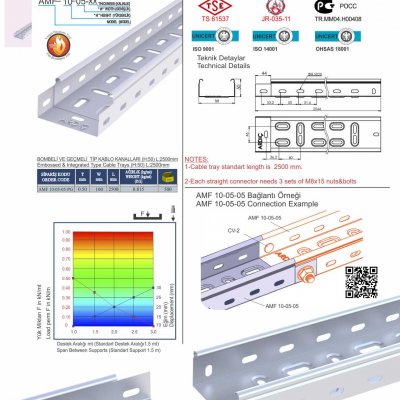 1 H50 W100 T05 Embossed & Integrated Cable Trays