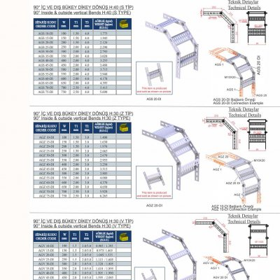 1_Marine  Cable Tray 90° Vertical Bends (L Type)