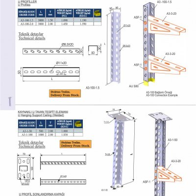 1_U Profiles & U Hanging Support Ceiling (Welded)_