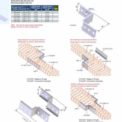 8_H60_K Series Cable Trays Reducing Angles