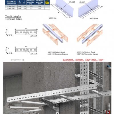 9_H100 M Series Cable Ladder Seperators