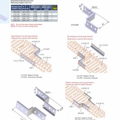 9_H50_K Series Cable Trays Reducing Angles